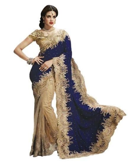 aksh fashion multicoloured velvet saree buy aksh fashion