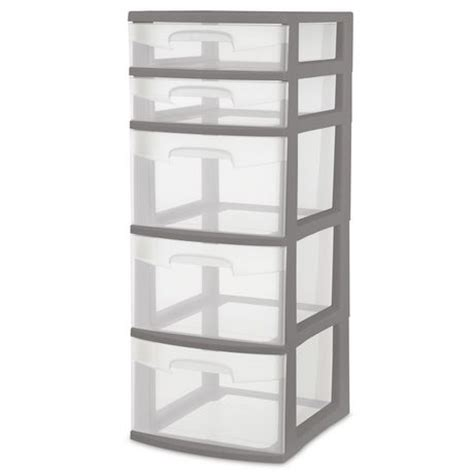 sterilite 5 drawer tower sterilite gray 5 drawer tower walmart ca
