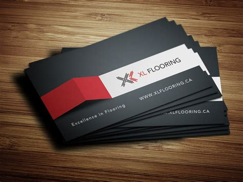 flooring business cards business card design for xl flooring solocube creative