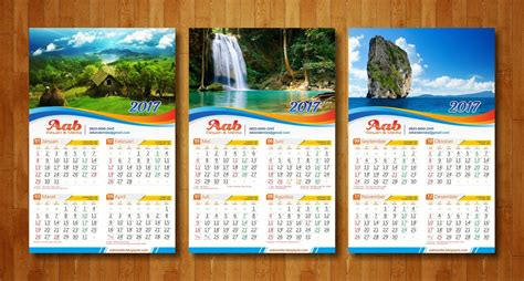 desain kalender dinding  aabmedia