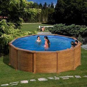 Piscine Acier Aspect Bois : piscine acier aspect bois ronde hauteur 1 20 m et ~ Dailycaller-alerts.com Idées de Décoration