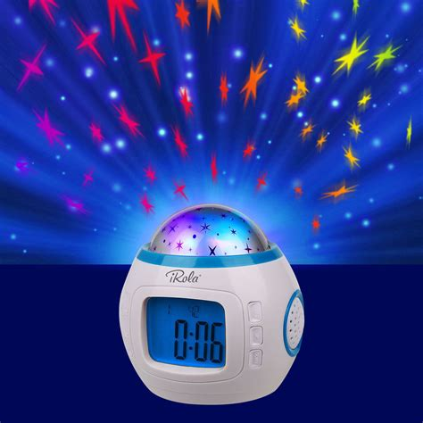 Baby Projector Lamp by Music Starry Sky Night Light Projection Led Thermometer