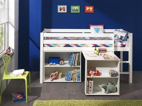 lit hauteur avec bureau achetez ici le lit mi hauteur avec bureau blanc