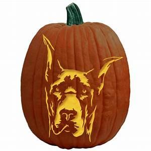 Great, Dane, Pumpkin, Carving, Pattern