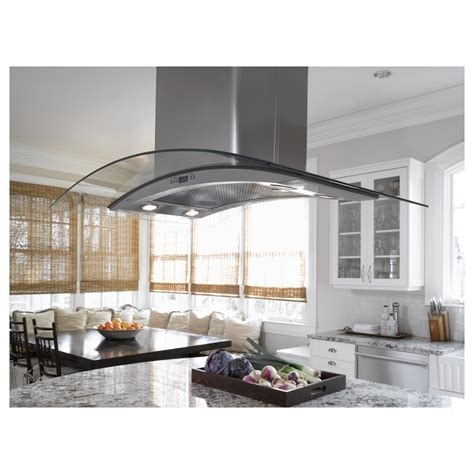 zvslss ge monogram  glass canopy island vent hood stainless bossington interior design