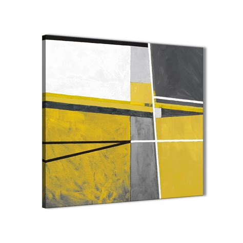 mustard yellow grey painting kitchen canvas pictures decorations abstract 1s388m 64cm square