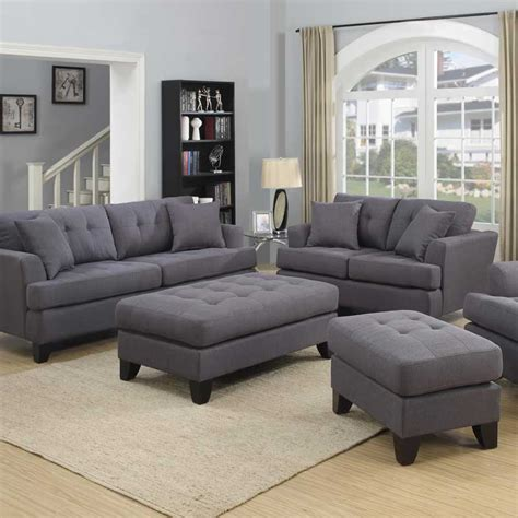 Grey And Loveseat by Norwich Gray Sofa Set The Furniture Shack Discount