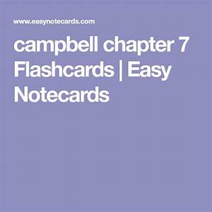 Campbell Chapter 7 Flashcards