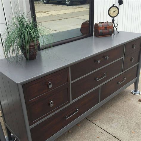 Buffet in Java Gel Stain and Driftwood Milk Paint