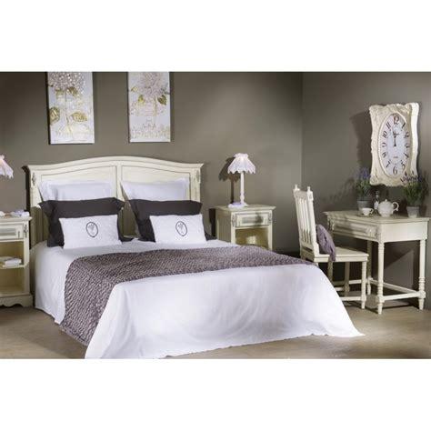 chambre de chalet tête de lit ornement 170 cm en bois patiné blanc