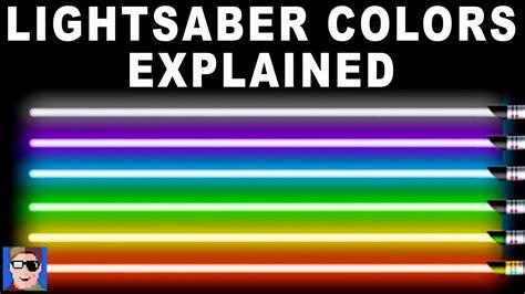 star wars lightsaber colors explained youtube