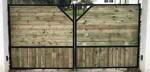 Portail Battant 5 Metres : brico 39 liv fabrication d 39 un portail battant de 3 m tres acier et bois ~ Nature-et-papiers.com Idées de Décoration