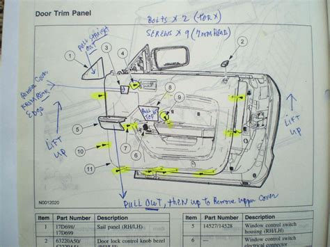 2005 Ford Mustang Part Diagram by Passenger Side Door Schematic Ford Mustang Forum