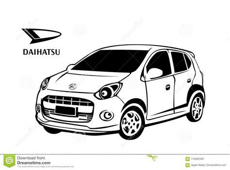 daihatsu car vector design editorial stock image