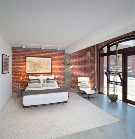 brick wall family room contemporary with narrow ledge metal tripod floor ls byrneseyeview com