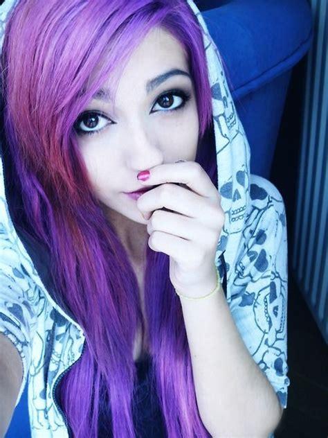 Light Purple Scene Hair Tumblr