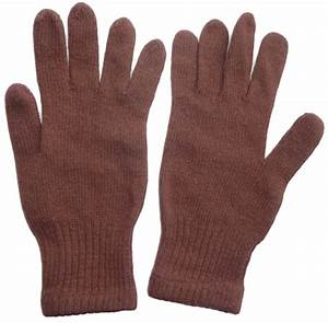 Russian Army Officer Brown Knitted Wool Gloves