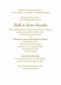 50th wedding anniversary invitation wording samples in With 25th anniversary wedding invitations in spanish