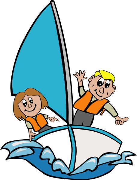 Sailing Boat Cartoon Pictures by Kids Sailing Clip Art At Clker Vector Clip Art