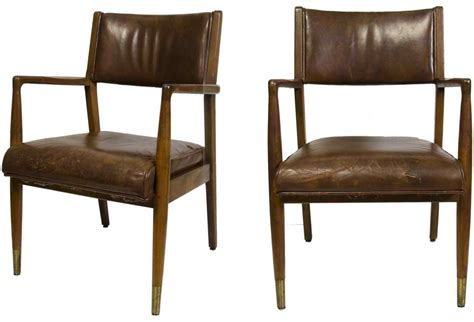 mid century leather chairs omero home