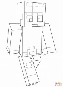 Minecraft Dantdm Coloring Page Free Printable Coloring Pages