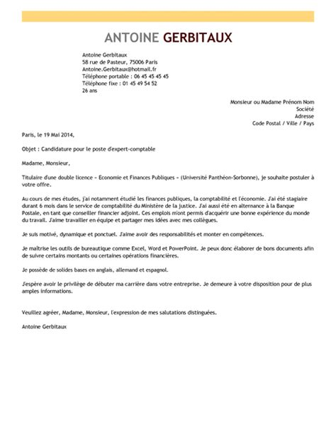 lettre de motivation expert comptable exemple lettre de motivation expert comptable livecareer