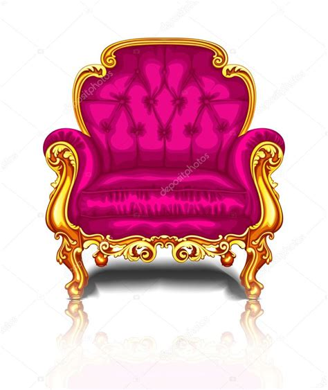 bright pink chair with gold trim stock vector 169 elizaliv