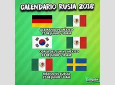 Calendario Rusia 2018 Mexico
