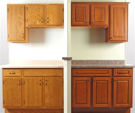 Diy Kitchen Cabinet Refacing Ideas - before after showroom cabinet refacing display walzcraft