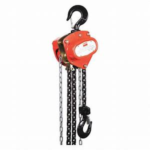 Manual Chain Hoist 4000 Lb  Lift 20 Ft  1vw60