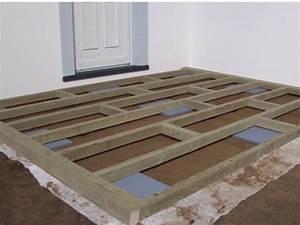 pose terrasse bois composite sur dalle beton myqtocom With pose lame terrasse composite