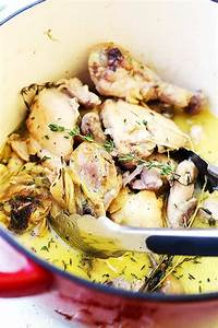 coconut milk and thyme braised chicken thighs legs recipe
