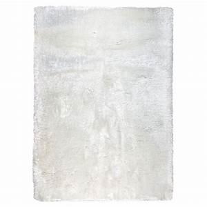Tapis Shaggy Blanc : tapis shaggy tiss main blanc adore ligne pure 140x200 ~ Preciouscoupons.com Idées de Décoration