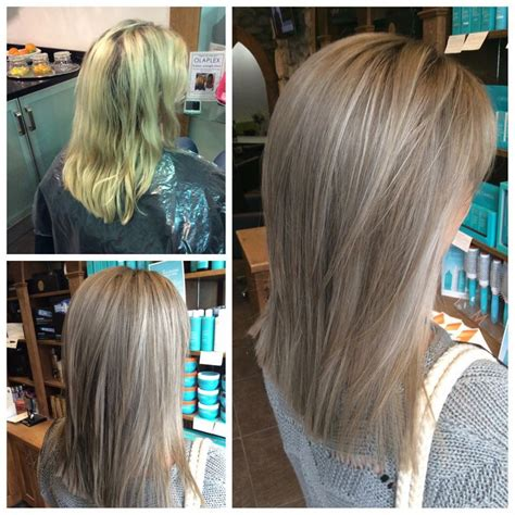 Brown Hair With Yellow Highlights by From Yellow To A Softer Ashy Light Brown