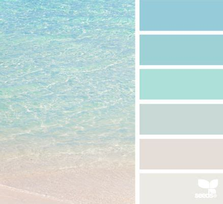 beachy colors clear beaches colour swatches and design seeds