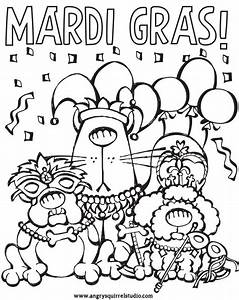 Celebrate Mardi Gras with a FREE Coloring Page! | Angry ...