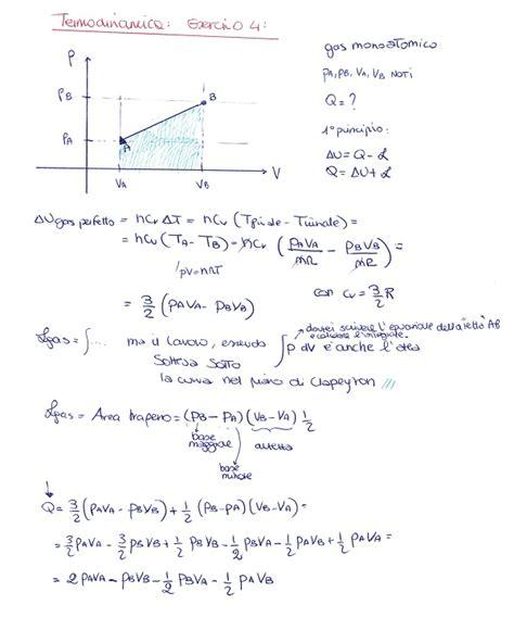fisica 2 dispense fisica 1 termodinamica esercizio 4 la matepratica
