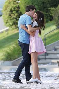 SELENA GOMEZ and Nat Wolff Kiss on the Set of Parental ...