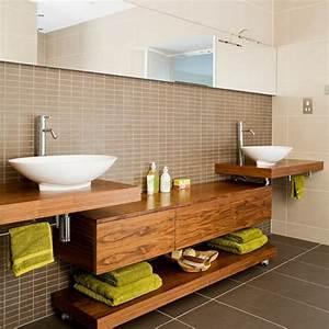 Waschtischplatte Holz Rustikal : modernes bad 70 coole badezimmer ideen ~ Sanjose-hotels-ca.com Haus und Dekorationen