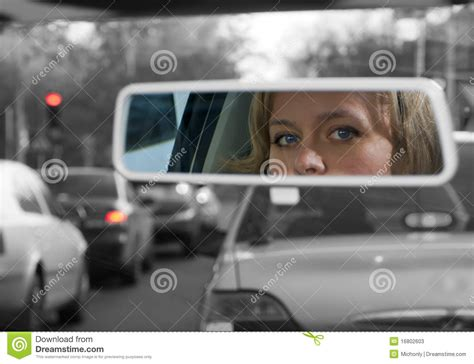 girl  rearview mirror stock image image  ethnicity