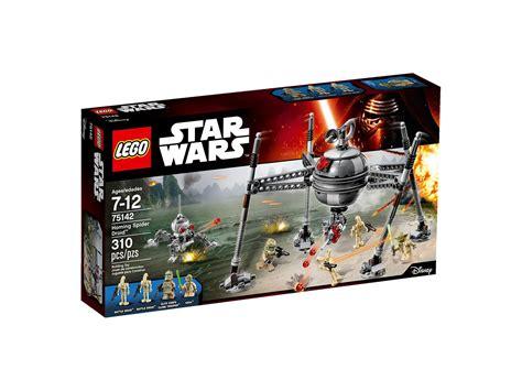 bureau wars lego 75142 homing spider droid 2016 wars set box