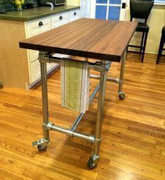 kitchen island legs metal kitchen island industrial butcher block style reclaimed 5094