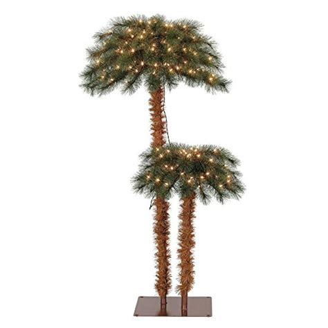 palm tree christmas tree ideas  artificial lighted