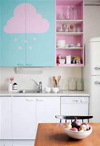Cuisine Rose Poudré : 5 id es d co pour repeindre ses meubles de cuisine ~ Melissatoandfro.com Idées de Décoration