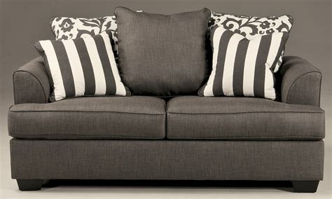 Levon Sofa Charcoal Upholstery by Levon Charcoal Loveseat 7340335 Furniture