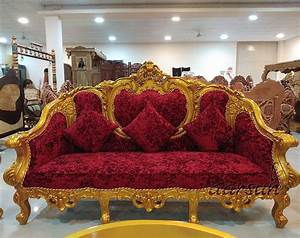 Gold Finish Royal Look Sofa Set Yt