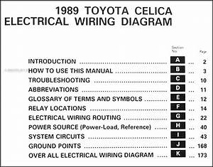 1989 Toyota Celica Wiring Diagram Manual Original