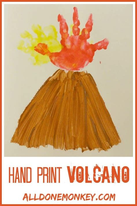 volcanoes for preschoolers print volcano card kinder volcano and learning 488