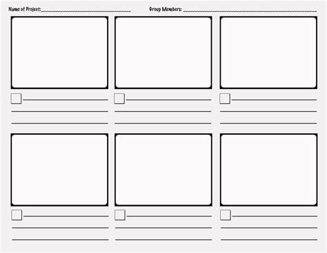 Storyboard Template Project Based Learning Out Of The Box Teaching
