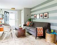 excellent family room accent wall 15 Fabulous Living Rooms with Striped Accent Walls